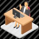businessperson, businesswoman, entrepreneur, executive, office assistant icon