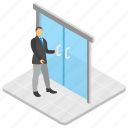 business place, office, office entrance, workplace, workspace icon