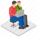 business communication, business talk, colleagues talking, consulting, official discussion icon