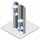 elevator, elevator door, lift, modern elevator, office elevator icon