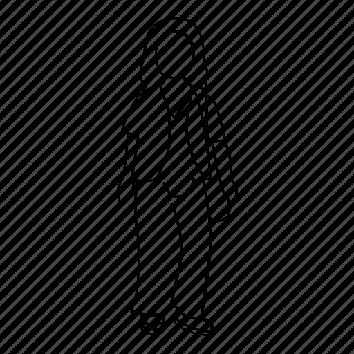elder, female, people, person, standing, street, woman icon
