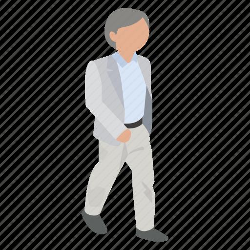 businessman, man, office, walking, white collar, work, workman icon