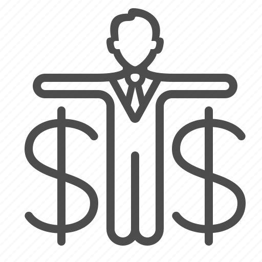 banker, broker, businessman, dollar, investment, man, money icon