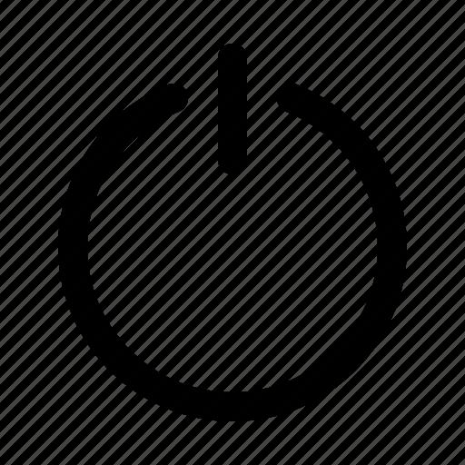 on, power icon