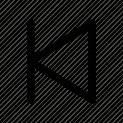 media, multimedia, previous icon