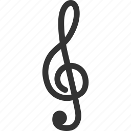 melody, music key, musical, note, song, sound, treble clef icon