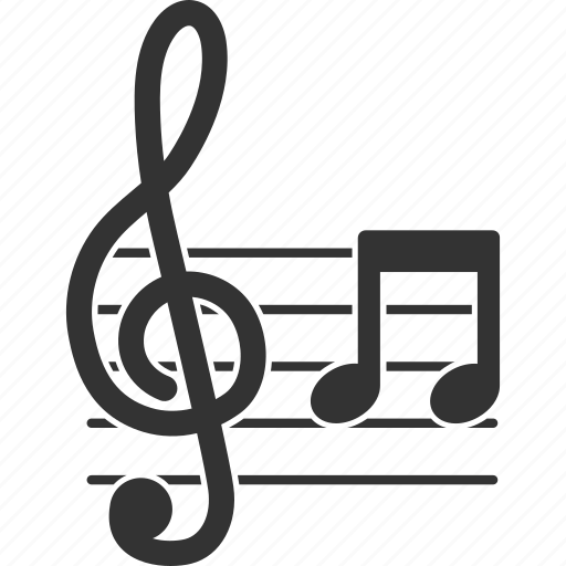 clef, melody, music note, musical notation, song, symphony, treble key icon