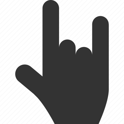 fingers, genre, gesture, hand, rock, super, wow icon