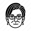 persona, face, human, woman, female, user icon