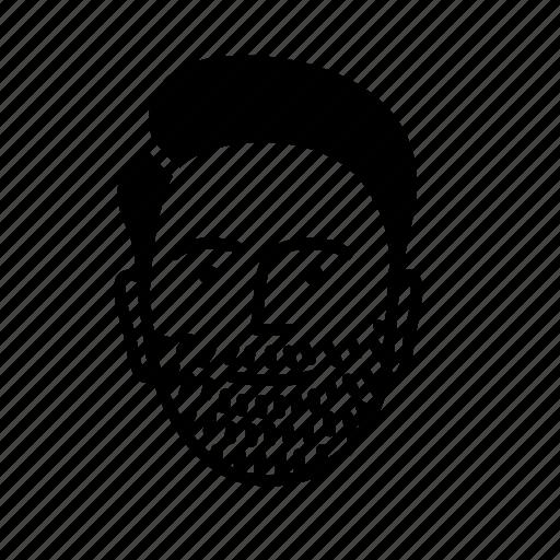 bearded, face, friend, man, person, persona, user icon