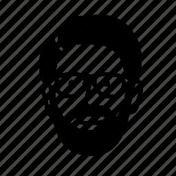 beared, face, friend, man, person, persona, user icon