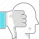 thumbs, hand, avatar, up, critics, face icon