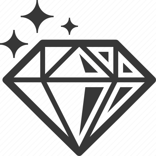 diamond, gemstone, jewelry icon
