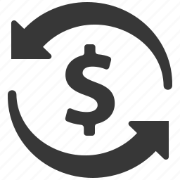 dollar, exchange rate, money transaction, money transfer icon