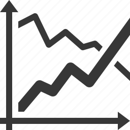 analytics, business growth, chart, graph icon