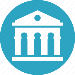 bank, business, courthouse icon