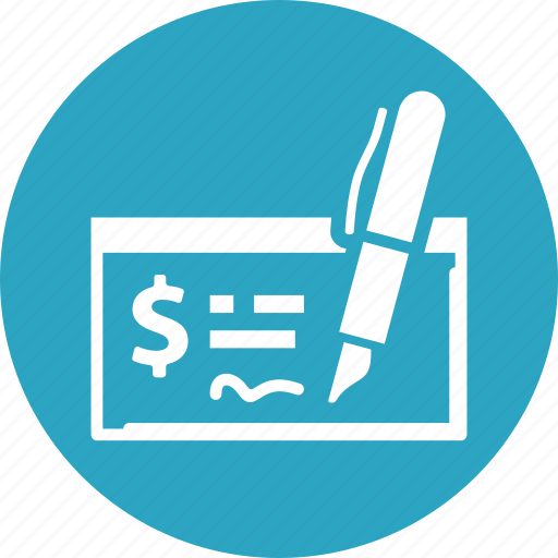 bank check, finance, money, payment icon