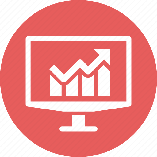 financial analytics, graph, growth, statistics icon