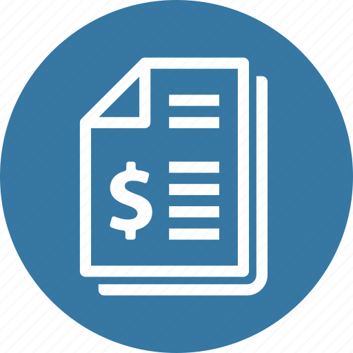 bill, finance, invoice, receipt icon