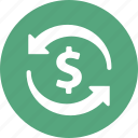 dollar, finance, money transfer, transaction icon