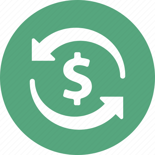 banking, currency, dollar, finance, funds, money transfer, transaction icon