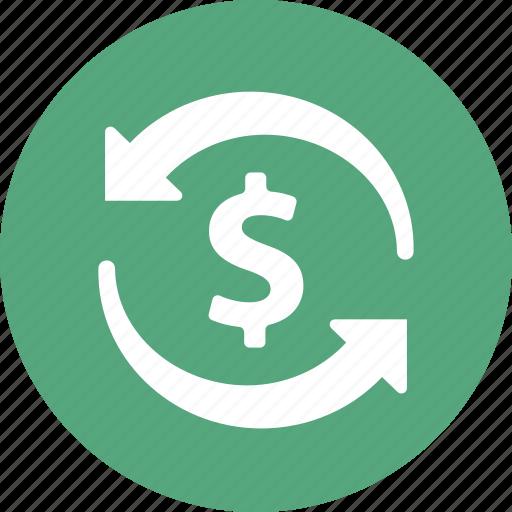 dollar, finance, money transfer, transaction icon