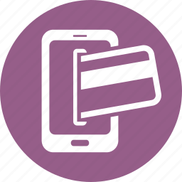 banking, credit card, ecommerce, finance, mobile banking, payment, smartphone icon