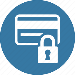 credit card, lock, protection, security icon