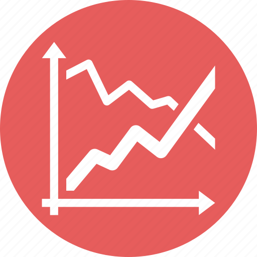 business analytics, graph, growth, stock market icon