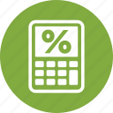debt, loan, mortgage calculator icon