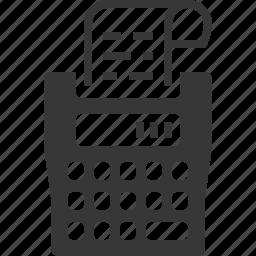 calculator, receipt, tax calculator, tax machine icon