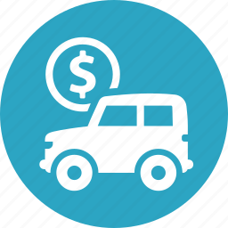 auto loan, car, payment, vehicle icon