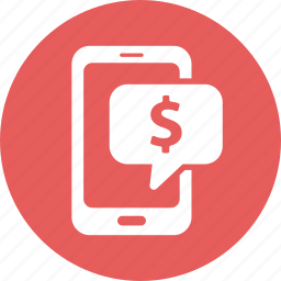 check balances, finance, money, smartphone icon