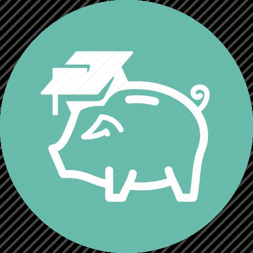 college savings, education, piggy bank icon