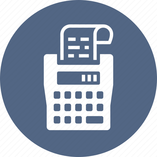 accounting, calculator, tax machine, taxes icon