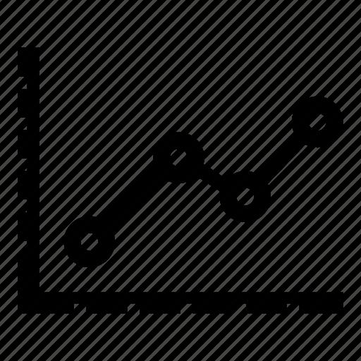 analytics, growth, line graph icon