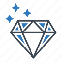 diamond, finance, gemstone icon