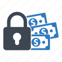 finance, lock, protection, secured loan icon