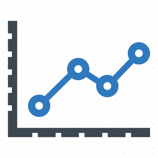 analytics, line graph, statistics icon