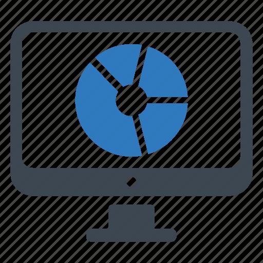 analysis, analytics, pie chart icon