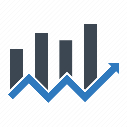 business growth, chart, sales icon
