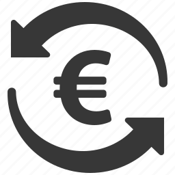 banking, coin, currency, ecommerce, euro, finance, money transfer icon