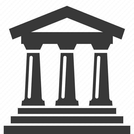 bank, banking, building, business, courthouse, finance, money icon