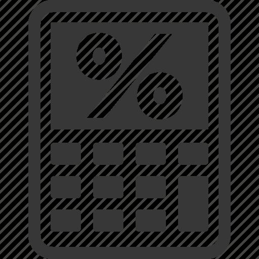 business, finance calculator, loan, mortgage calculator, percentage icon