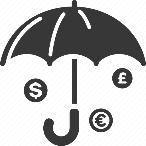 finance, financial, insurance, money, protection, secure investment, umbrella icon