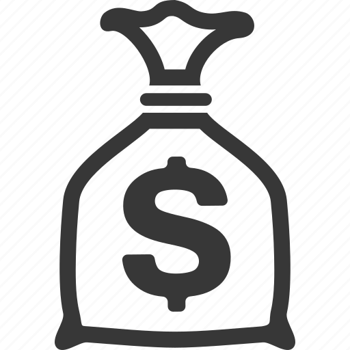 fees, finance, investment, money bag icon