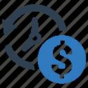 deadline, earnings, money time, savings icon