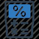 calculator, mortgage loan, percentage icon