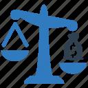 balance, financial, measure, value icon