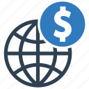 global investment, finance, currency, transfer, money icon